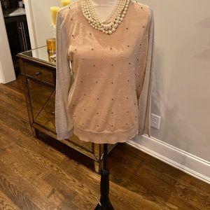 NWT Loft Jewel Embellished Sweater—Size Large